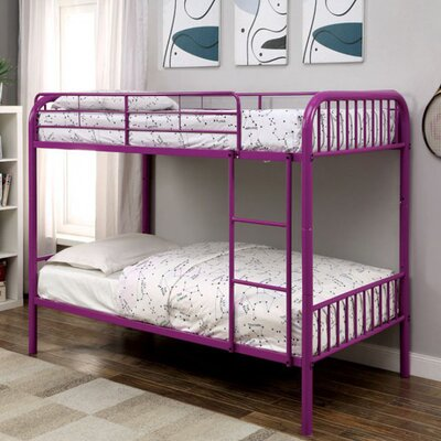 Silkeborg Twin/Twin Bunk Bed Bed Frame Color: Purple
