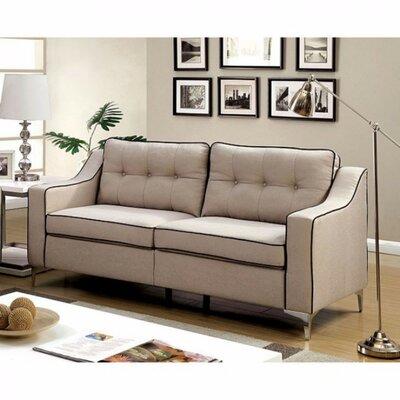 Clarissa Sofa Upholstery: Beige