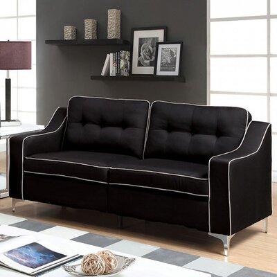 Clarissa Sofa Upholstery: Black
