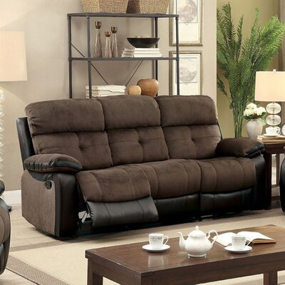 Viergeline Leather Reclining Sofa