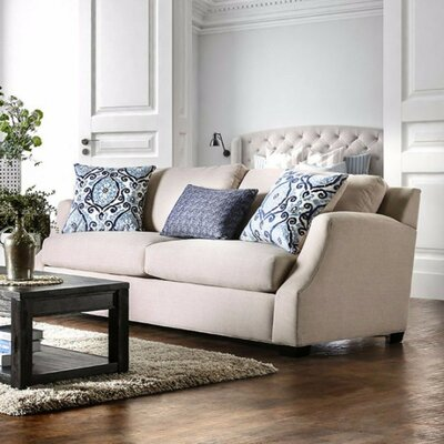 Tiffin Stylish Sofa Upholstery: Blue/Beige