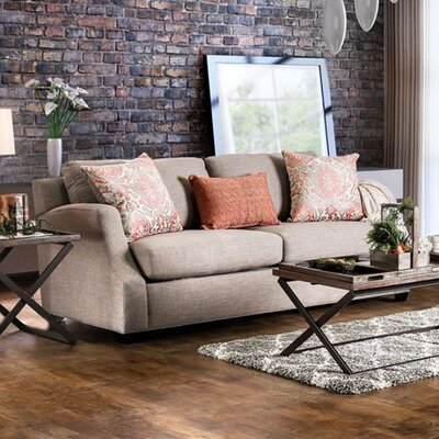 Tiffin Stylish Sofa Upholstery: Orange/Light Gray