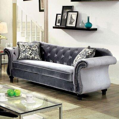 Bouton Sofa Upholstery: Gray