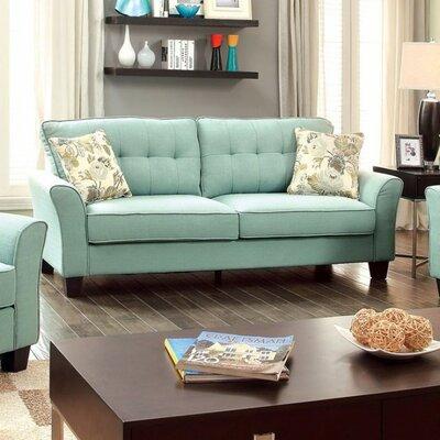 Gwendoline Padded Flax Fabric Sofa