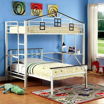 Hanley Study Loft Bunk Bed with Slats