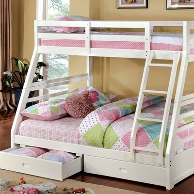 Huissen Trendy Twin Over Full Bunk Bed with Drawers