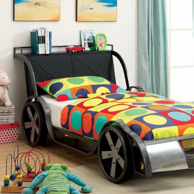 Halfmoon Car Designed Twin Bed with Mattress