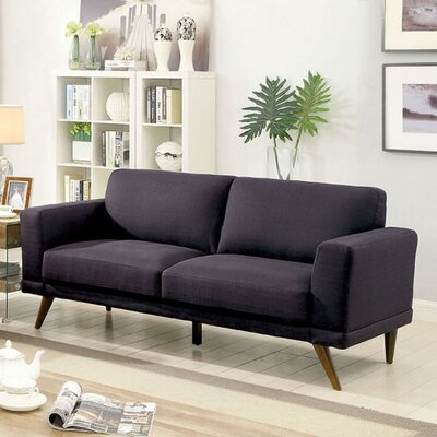Courtland Sofa Upholstery: Black