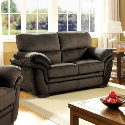 Ayawovi Loveseat Upholstery Color: Dark Brown
