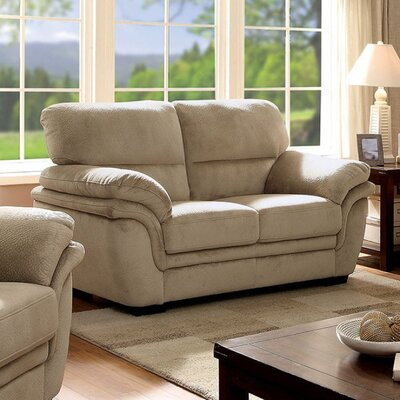 Ayawovi Loveseat Upholstery Color: Light Brown