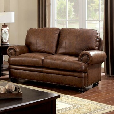 Gerard Loveseat Upholstery Color: Light Brown