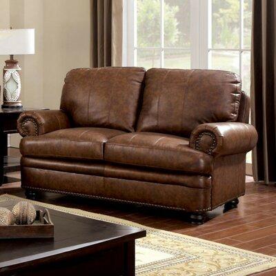 Gerard Loveseat Upholstery Color: Light Brown