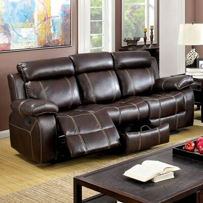Yizheng Reclining Sofa with Contrast Stitching