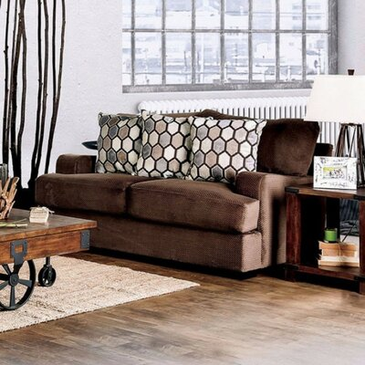 Tuyen Sofa Upholstery Color: Chocolate