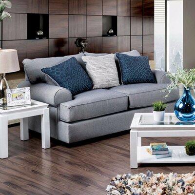 Kristina Loveseat Upholstery: Gray