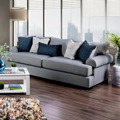 Kristina Transitional Style Sofa Upholstery: Gray