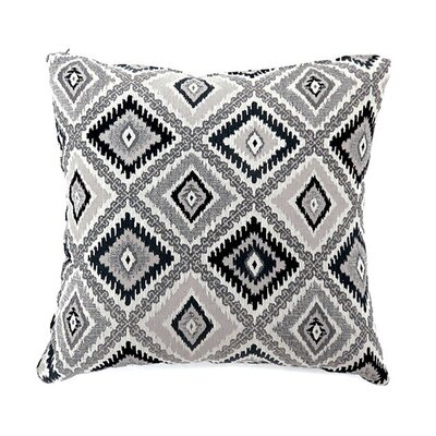 Lainey Throw Pillow Color: Black, Size: 19 x 19