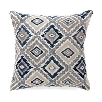 Lainey Throw Pillow Color: Navy, Size: 19 x 19