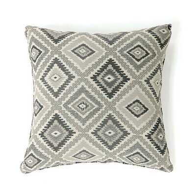 Lainey Throw Pillow Color: Gray, Size: 15.3 x 15.3