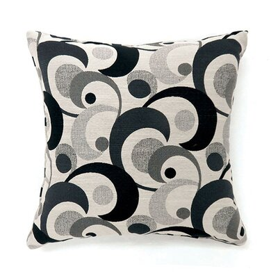 Castonguay Throw Pillow Color: Black, Size: 19 x 19