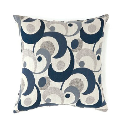 Castonguay Throw Pillow Color: Blue, Size: 19 x 19
