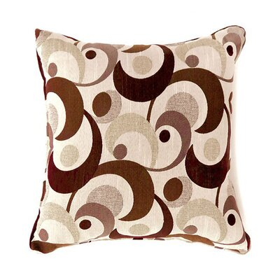 Castonguay Throw Pillow Color: Brown, Size: 19 x 19