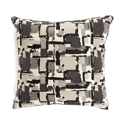 Jasmin Throw Pillow Color: Dark Gray, Size: 15.3 x 15.3