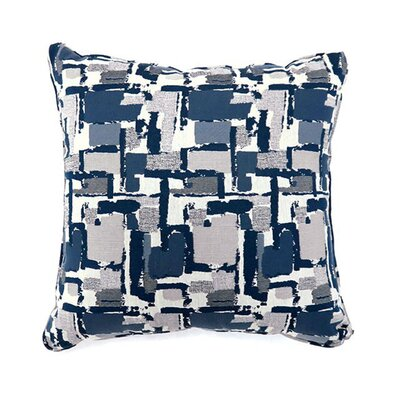 Jasmin Throw Pillow Color: Blue, Size: 19 x 19