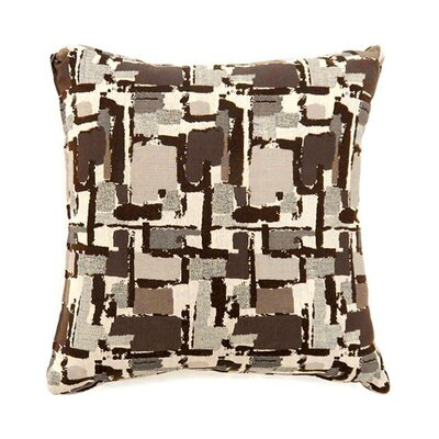 Jasmin Throw Pillow Color: Brown, Size: 19 x 19