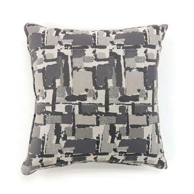 Jasmin Throw Pillow Color: Light Gray, Size: 19 x 19