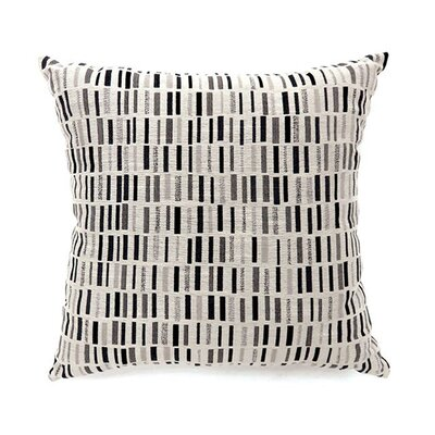 Matilda Throw Pillow Color: Black, Size: 19 x 19