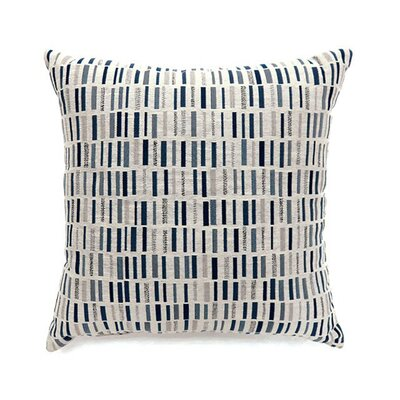 Matilda Throw Pillow Color: Blue, Size: 19 x 19