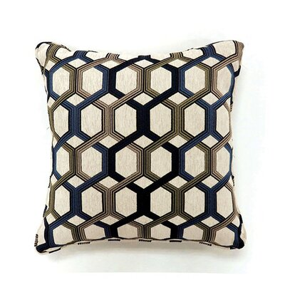 Chancy Throw Pillow Color: Navy, Size: 15.3 x 15.3