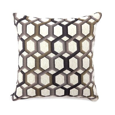 Chancy Throw Pillow Color: Gray, Size: 19 x 19