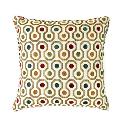 Emelia Throw Pillow Color: Dark Ivory, Size: 15.3 H x 15.3 W x 9 D