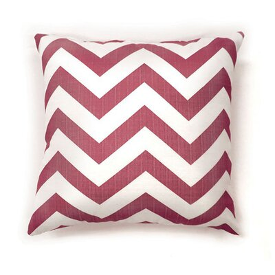 Whiteman Throw Pillow Color: Red, Size: 15.3