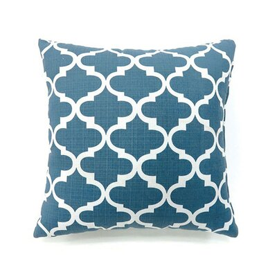 Tena Throw Pillow Color: Blue, Size: 19 x 19