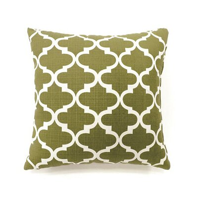 Tena Throw Pillow Color: Green, Size: 15.3 x 15.3