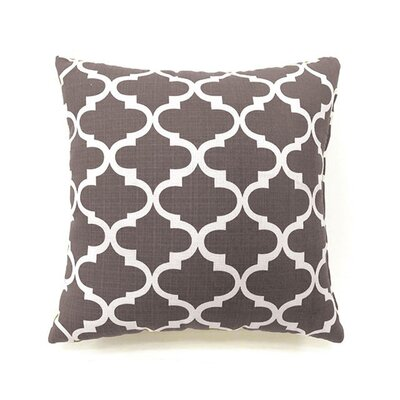 Tena Throw Pillow Color: Gray, Size: 19 x 19