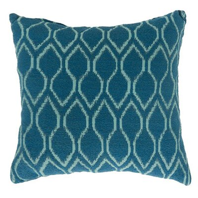 Paramus Throw Pillow Color: Blue, Size: 18.8
