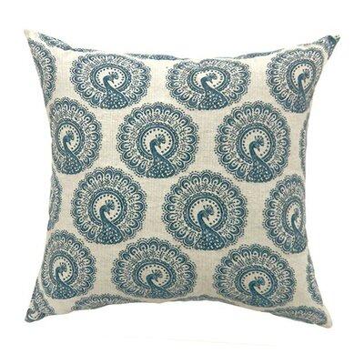 Lauren Large Throw Pillow Color: Blue, Size: 15.3 H x 15.3 W x 9 D