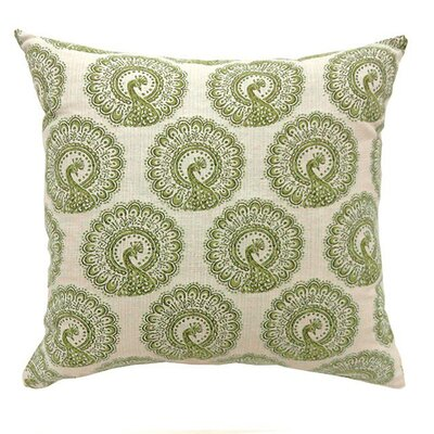 Lauren Large Throw Pillow Color: Green, Size: 15.3 H x 15.3 W x 9 D