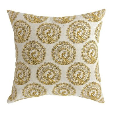 Lauren Large Throw Pillow Color: Yellow, Size: 15.3 H x 15.3 W x 9 D