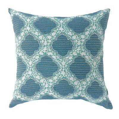 Kathaleen Throw Pillow Color: Blue, Size: 15.3 x 15.3