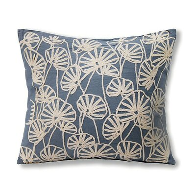 Brenda Cotton Throw Pillow Color: Blue