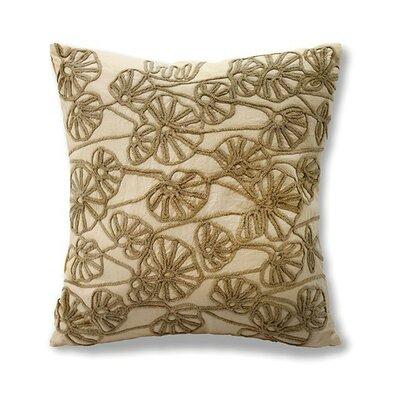 Brenda Cotton Throw Pillow Color: Tan