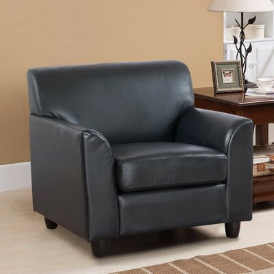 Matheney PU Leather Armchair Upholstery: Blue