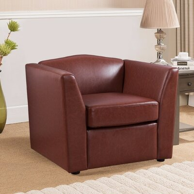 Matherne PU Leather Armchair Upholstery: Brown