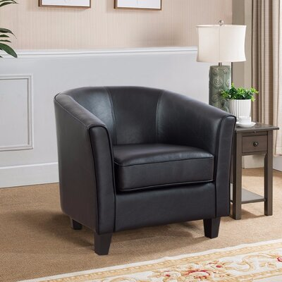 Weiner PU Leather Armchair Upholstery: Black