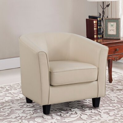 Weiner PU Leather Armchair Upholstery: Cream